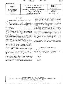 Wyroby garmażeryjne - Pasztety, klopsy, pieczenie z mięs mielonych - Wymagania ogólne BN-80/8151-05