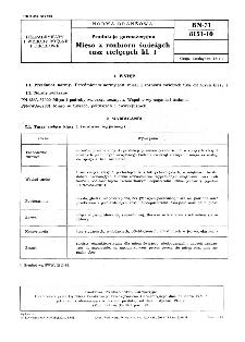 Produkcja garmażeryjna - Mięso z rozbioru świeżych tusz cielęcych kl. I BN-71/8151-10
