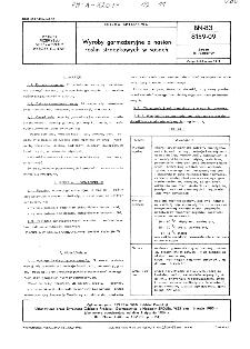 Wyroby garmażeryjne z nasion roślin strączkowych w sosach BN-83/8159-09