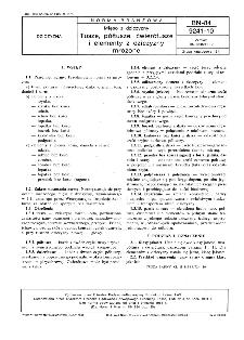 Mięso z dziczyzny - Tusze, półtusze, ćwierćtusze i elementy z dziczyzny mrożone BN-84/9241-10