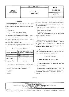 Napoje mleczne - Laktorol BN-66/8042-04