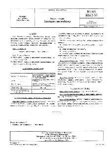 Napoje mleczne - Szampan serwatkowy BN-66/8042-05