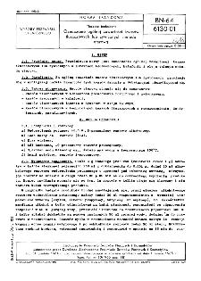 Tłuszcze techniczne - Oznaczenie ogólnej zawartości kwasów tłuszczowych lub żywicznych metodą eterową BN-64/6130-01