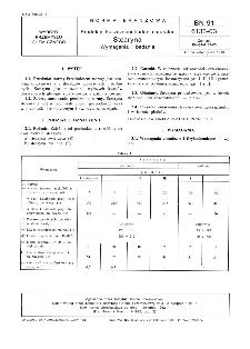 Produkty tłuszczopochodne naturalne - Stearyna - Wymagania i badania BN-91/6133-03