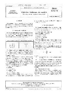Osłonka białkowa do wędlin - Metody badań fizykochemicznych BN-81/8012-16