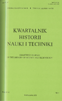 Kwartalnik Historii Nauki i Techniki R. 46 nr 4/2001
