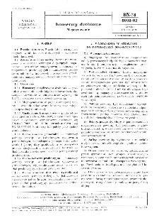 Konserwy drobiowe - Magazynowanie BN-78/8030-02