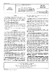 Mleko i przetwory mleczarskie - Sprawdzanie wrażliwości sensorycznej oraz umiejętności przeprowadzania ocen organoleptycznych i analiz sensorycznych BN-69/8040-01