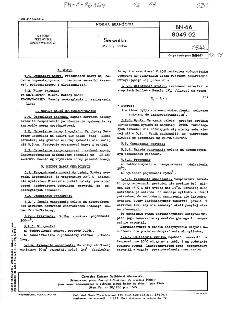 Serwatka - Metody badań BN-66/8049-02