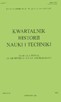 Kwartalnik Historii Nauki i Techniki R. 46 nr 3/2001
