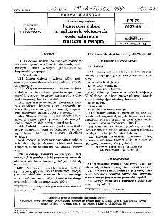 Konserwy rybne - Konserwy rybne w zalewach olejowych, sosie własnym i tłuszczu własnym BN-79/8027-06