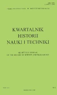 Kwartalnik Historii Nauki i Techniki R. 46 nr 2/2001