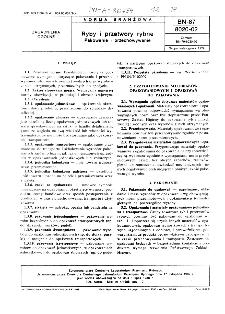 Ryby i przetwory rybne - Pakowanie i przechowywanie BN-87/8020-02