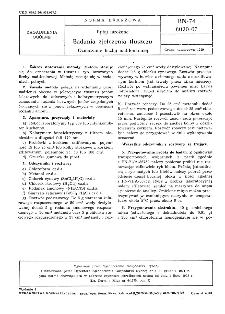 Ryby mrożone - Badania zjełczenia tłuszczu - Oznaczanie liczby nadtlenkowej BN-74/8020-07