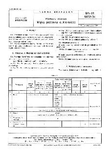 Przetwory zbożowe - Mąka pszenna cukiernicza BN-81/8062-04