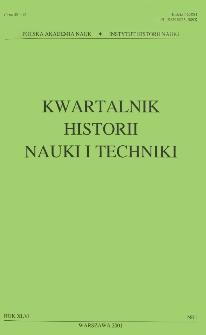 Kwartalnik Historii Nauki i Techniki R. 46 nr 1/2001