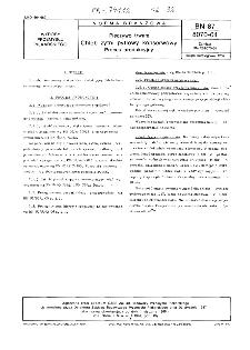 Pieczywo trwałe - Chleb żytni pytlowy konserwowy - Proces produkcyjny BN-87/8070-04
