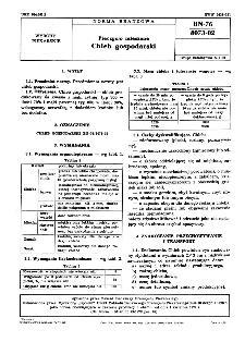 Pieczywo mieszane - Chleb gospodarski BN-76/8073-02