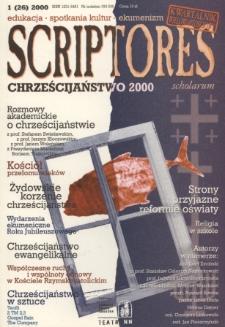 Scriptores Scholarum : kwartalnik uczniów i nauczycieli oraz ich Przyjaciół R. 8, nr 1(26)