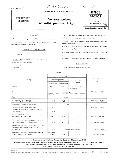 Przetwory zbożowe - Zarodki pszenne i żytnie BN-76/8062-03