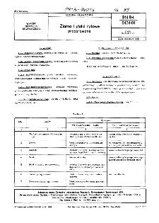 Ziarna i płatki ryżowe preparowane BN-84/8131-01