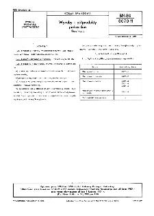 Wyroby i półprodukty piekarskie - Klasyfikacja BN-80/8070-11