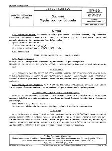 Odczynniki - Mydło Boutron-Boudeta BN-66/6191-69