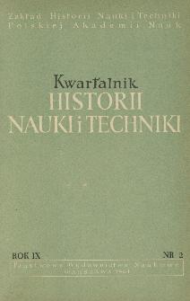 Kwartalnik Historii Nauki i Techniki R. 9 nr 2/1964