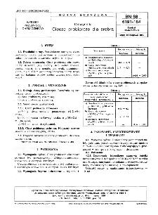 Odczynniki - Ciecze probiercze dla srebra BN-88/6191-184