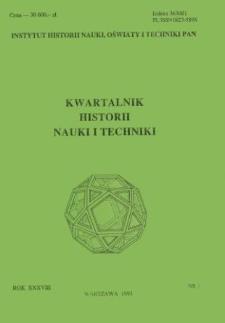 Kwartalnik Historii Nauki i Techniki R. 38 nr 1/1993