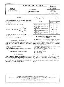 Odczynniki - Cykloheksanol BN-84/6193-09
