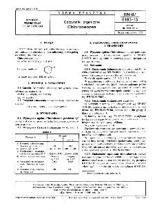 Odczynniki organiczne - Chlorobenzen BN-87/6193-13