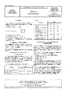 Odczynniki - Cykloheksan BN-83/6193-23