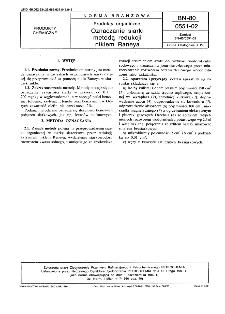 Produkty organiczne - Oznaczanie siarki metodą redukcji niklem Raneya BN-80/0551-02