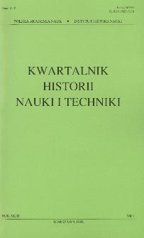 Kwartalnik Historii Nauki i Techniki R. 43 nr 1/1998