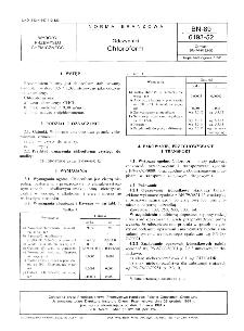 Odczynniki - Chloroform BN-89/6193-52