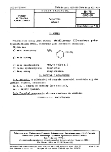 Odczynniki - Styren BN-75/6193-69