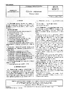 Glikole etylenowe - Metody badań BN-78/6020-03
