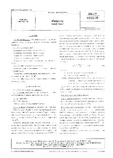 Melamina - Metody badań BN-79/6023-0