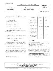 Odczynniki - 1,2-dwuchloroetan BN-88/6193-94