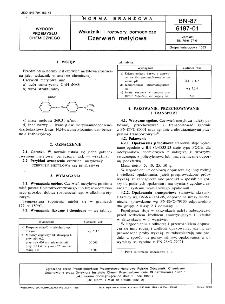 Wskaźniki i roztwory pomocnicze - Czerwień metylowa BN-87/6197-01