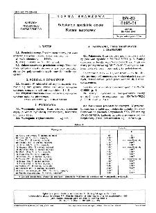 Substancje specjalne czyste - Kwas azotowy BN-83/6195-01