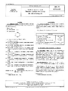 Substancje specjalne czyste - Benzen specjalnie czysty do chromatografii BN-71/6195-03