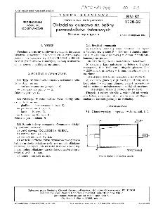 Górnictwo odkrywkowe - Okładziny gumowe na bębny przenośników taśmowych - Główne wymagania BN-87/1726-22