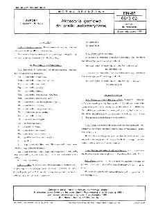 Akcesoria gumowe do pralki automatycznej BN-88/6613-02