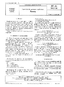 Uszczelnienia gumowe wytłaczane - Sznury BN-80/6613-04