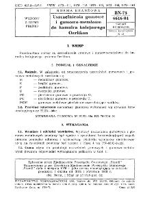 Uszczelnienia gumowe i gumowo-metalowe do hamulca kolejowego - Oerlikon BN-75/6616-04