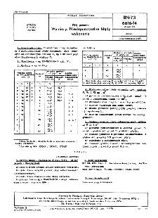 Płyty gumowe - Wymiary - Niedopuszczalne błędy wykonania BN-73/6616-14 Arkusz 02