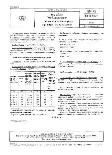 Płyty gumowe - Wulkanizowane i niewulkanizowane płyty ogólnego przeznaczenia BN-73/6616-14/11