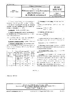 Płyty gumowe - Wulkanizowane i niewulkanizowane płyty kontaktujące się ze środkami spożywczymi BN-84/6616-14.15
